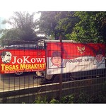 Posters everywhere with Jokowi and Prabowo during their presidential campaign. ©kellberg.net